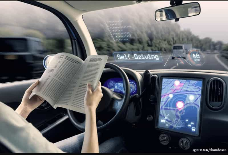 Self car driving while studying