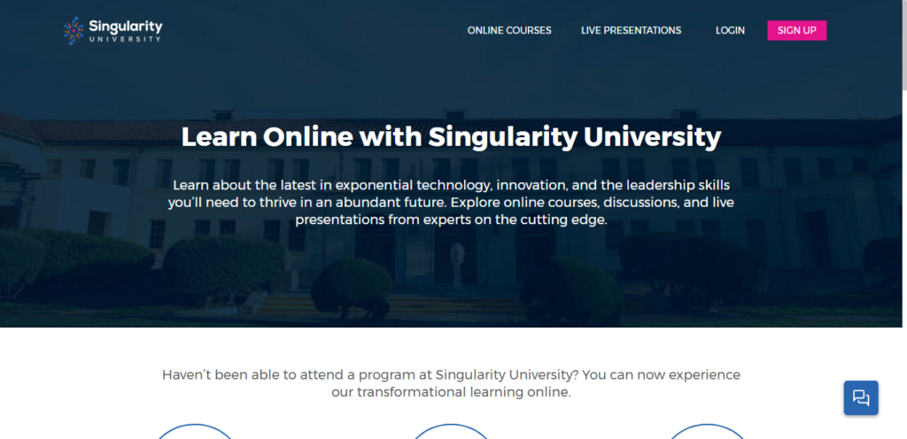 Log in or registered yourself with Singularity University for updates