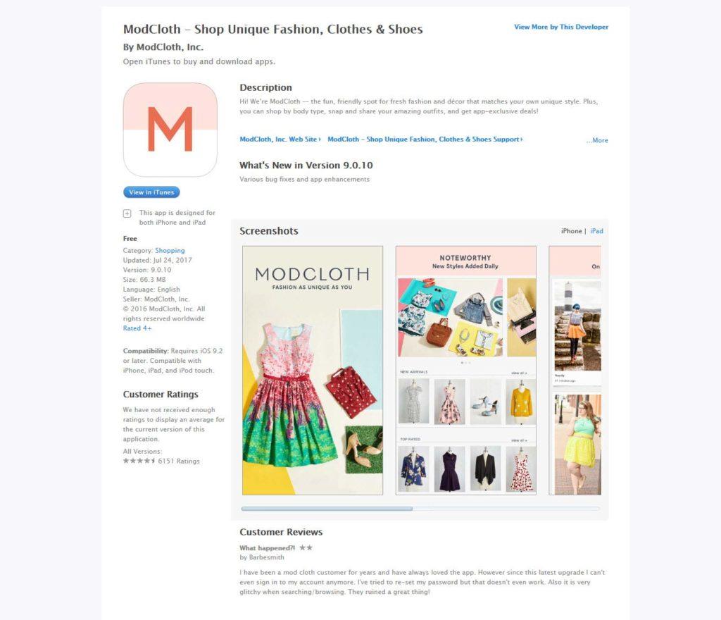 Modcloth - shop unique fashion, clothes and shoes