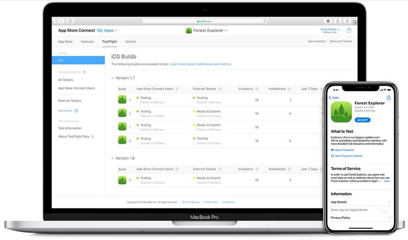 Xapple testflight ios beta test developer apps