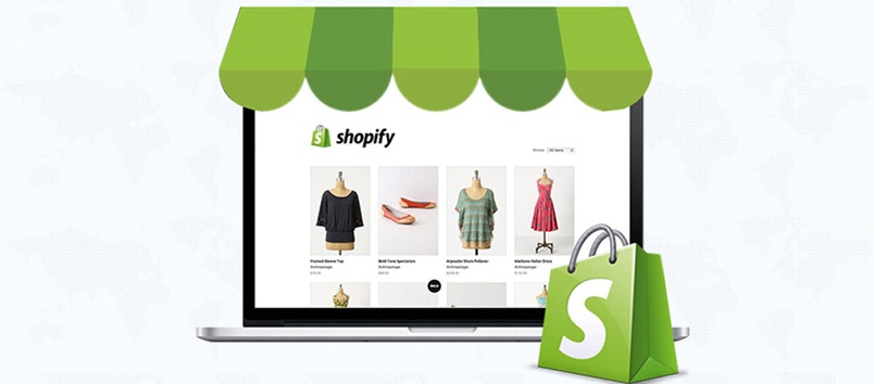 The shopify development banner