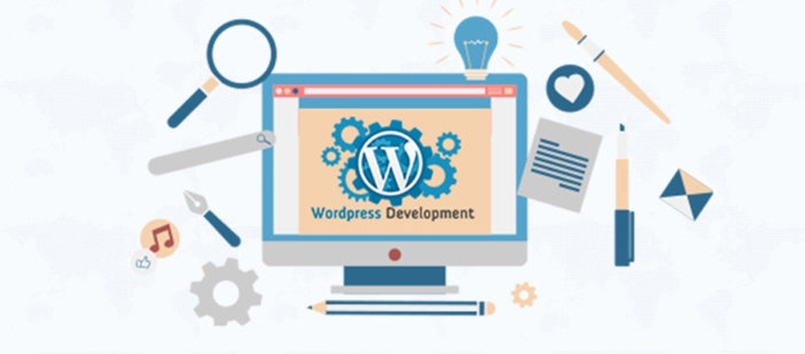 The wordpress developement banner